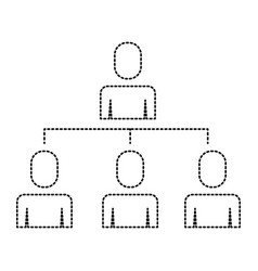 Business people organizational hierarchical scheme vector