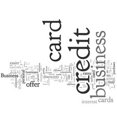 Check the best business credit card for you vector