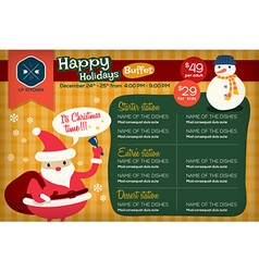 Christmas restaurant menu template vector