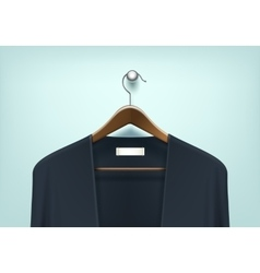 Clothes Wooden Hanger with Cardigan Jumper vector