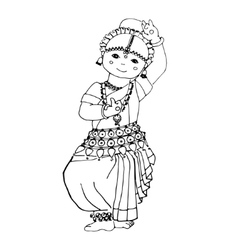 Dancing Indian girl vector