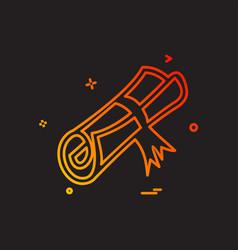 degree icon design vector image