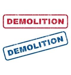 Demolition Rubber Stamps vector