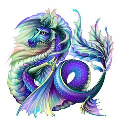 Dragon multi-colored water vector
