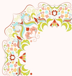 Element with lacy frame vector
