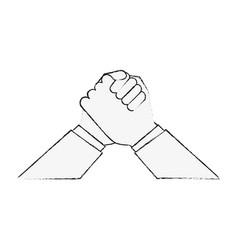 Ethnics hands symbol vector