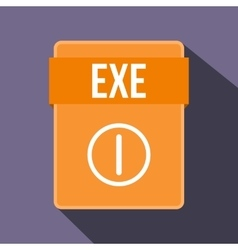 EXE file icon flat style vector image