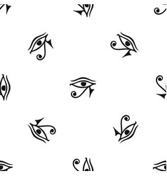Eye of horus egypt deity pattern seamless black vector