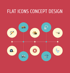 flat icons faucet restroom stop sign and other vector image