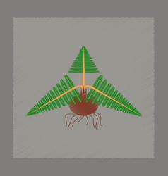 flat shading style icon plant pteridium vector image