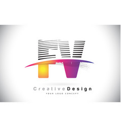 fv f v letter logo design with creative lines and vector image