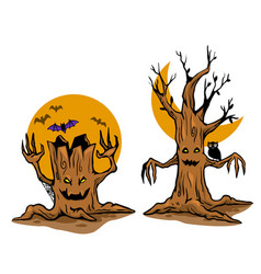 ghost tree vector image
