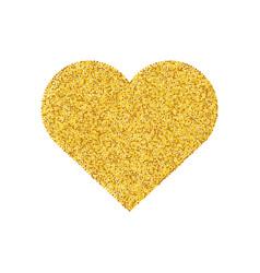gold glitter heart shape isolated golden love vector image
