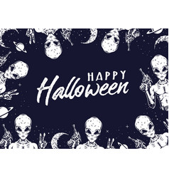 Happy halloween vintage concept vector
