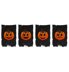 Horizontally seamless halloween bunting pack vector