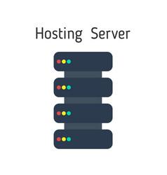 hosting server icon in flat design network server vector image