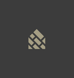 house brick creative logotype abstract home vector image
