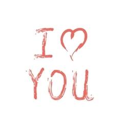 I love you lettering on white vector