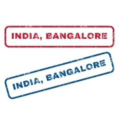 India Bangalore Rubber Stamps vector image