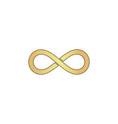 Infinity computer symbol vector image