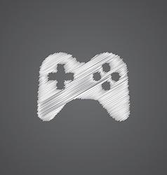 joystick sketch logo doodle icon vector image