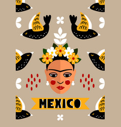 Mexican invitation card vector