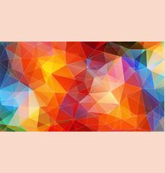 multicolor color geometric triangle wallpaper vector image
