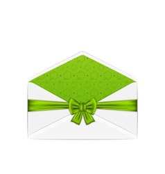 open white envelope with bow ribbon for st vector image