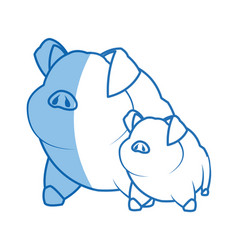 Pig character farm animal domestic image vector