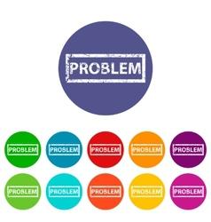Problem flat icon vector