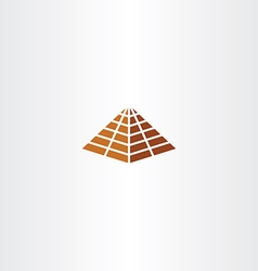 pyramid icon sign element symbol vector image