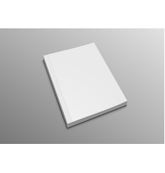 Realistic 3d clear white book mock up vector
