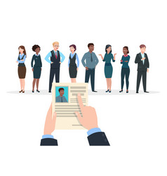 recruitment concept business people candidates vector image
