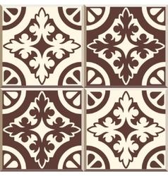 Retro Floor Tiles patern set of four patterns vector image