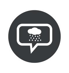 Round rain dialog icon vector