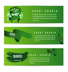 Saudi arabia independent day banner template vector