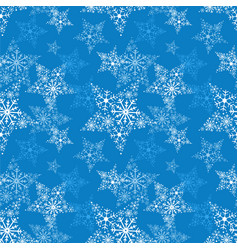 seamless pattern snowflake vector image