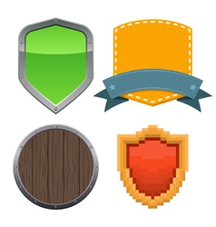 Set of different shields vector image vector image