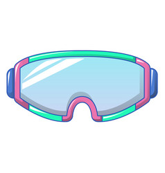 Ski goggles icon cartoon style vector