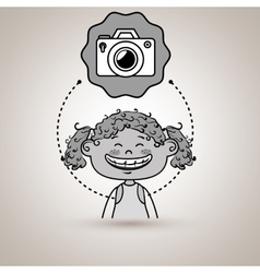 student girl study icon vector image