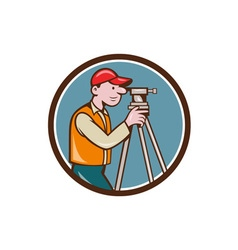 Surveyor Geodetic Engineer Theodolite Circle vector image