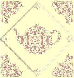 Teapot tile vector