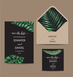 template for wedding invitation with vector image
