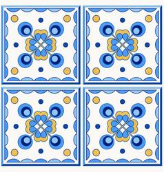 Traditional portugal lisbon azulejo ceramic tiles vector