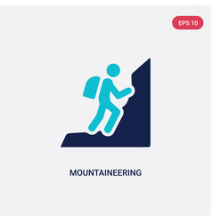 Two color mountaineering icon from activities vector