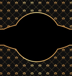 Vintage black background with golden elements vector image