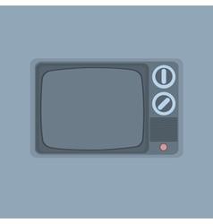 Vintage tv minimalism style vector