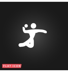 Volleyball player serving the ball vector