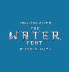 water font alphabet vector image
