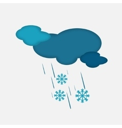 Weather Icon of the Cloudy Sky with Snow and Rain vector image